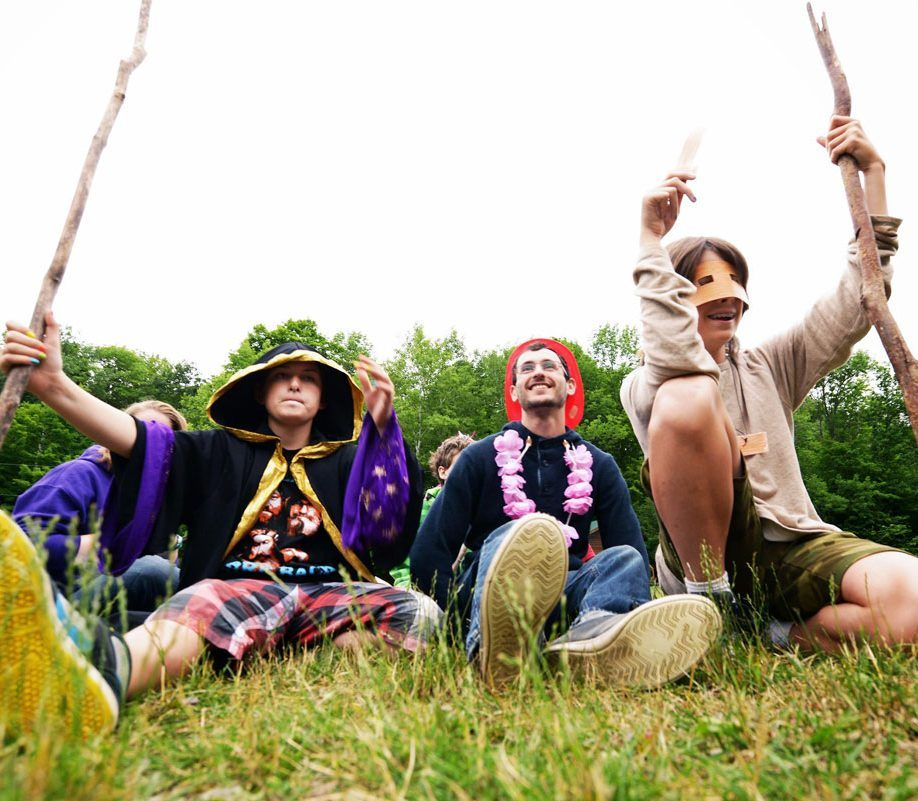 Youth with exceptionalities wear costumes at Camp Kirk